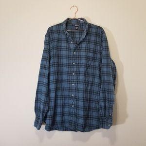 Mens NorthCrest striped plaid flannel shirt